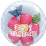 "24"" Birthday Flower Double Bubble Balloon"